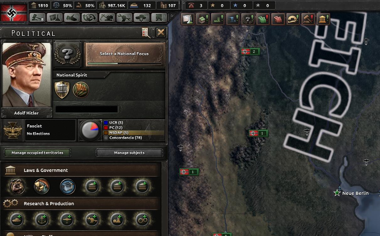 HoI4 [Mod] Señor Hilter Expanded ヒトラーがアルゼンチンで生き延び