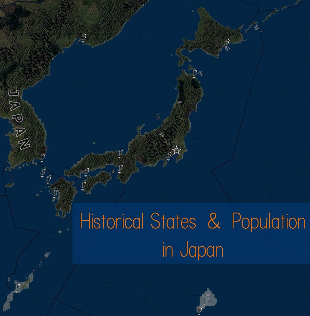 HoI4 [Mod] Historical States and Population in Japan 歴史に